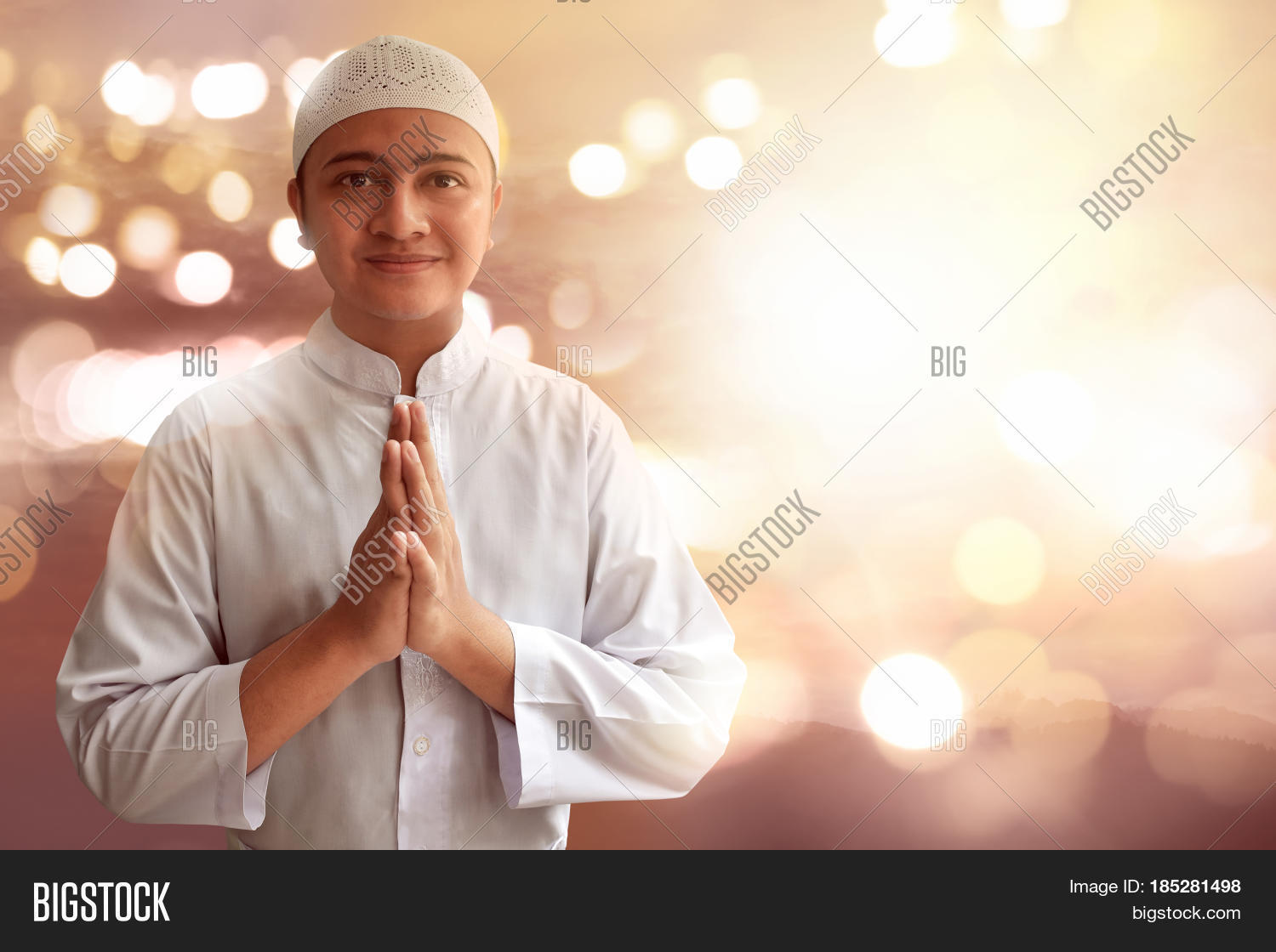 Muslim Man Smiling Image Photo Free Trial Bigstock