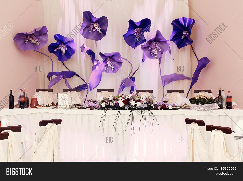 Big Purple Flowers Image Photo Free Trial Bigstock