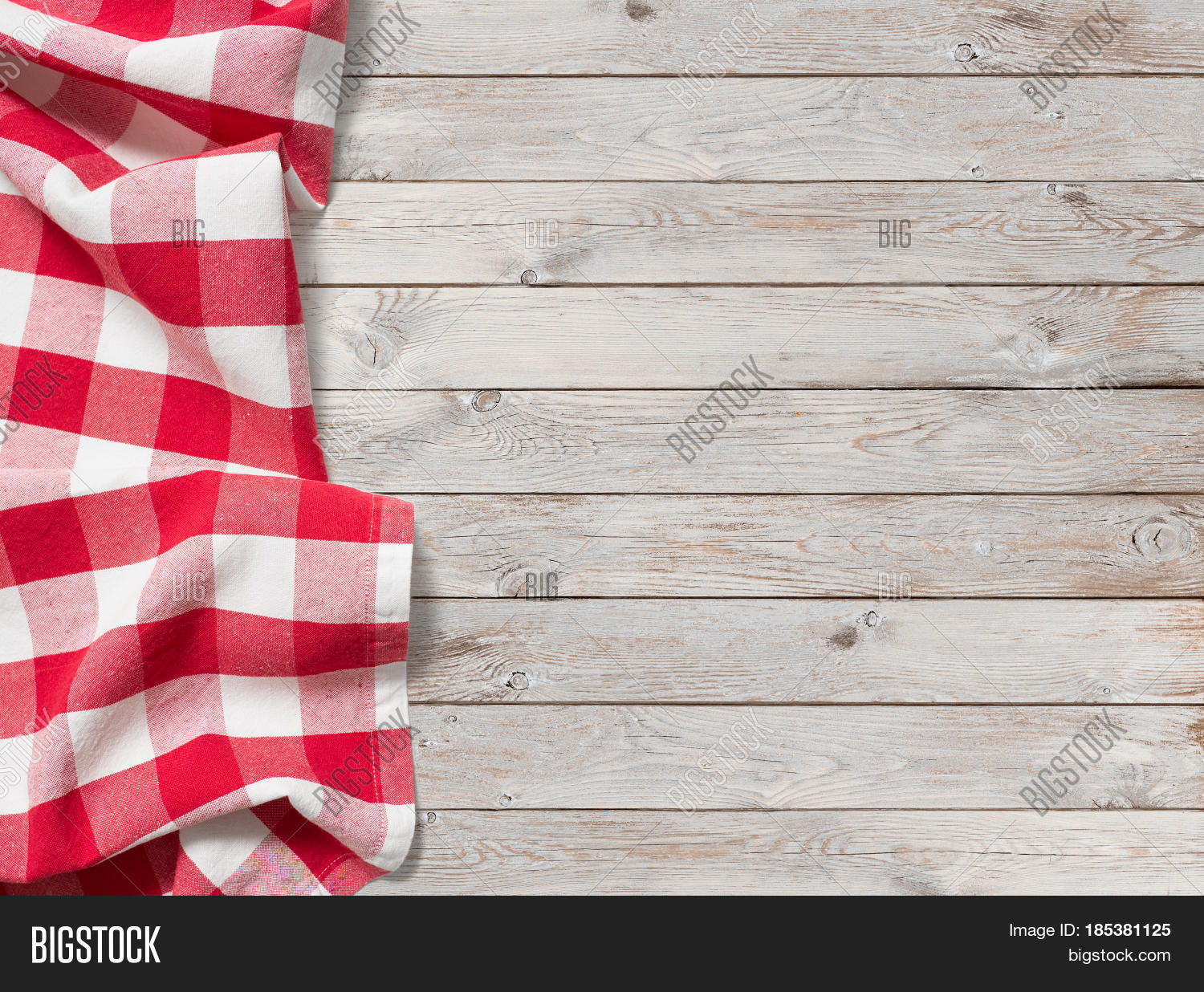 Red Picnic Tablecloth Image Amp Photo Free Trial Bigstock