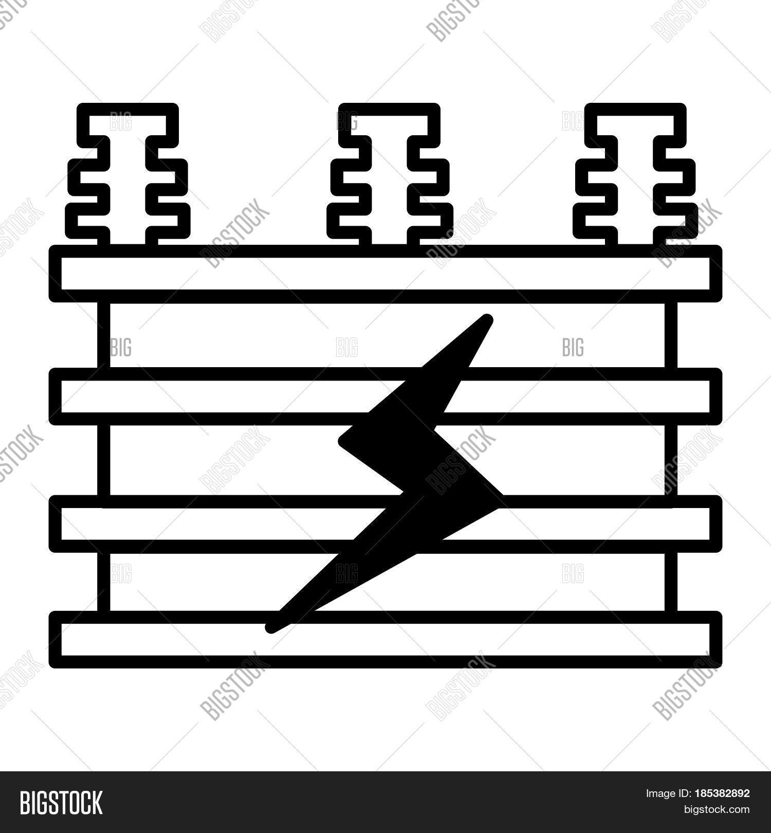 Thin Line Electrical Vector & Photo (Free Trial) | Bigstock