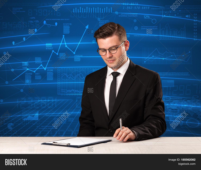 Pricing Analyst: Stock Data Analyst Studio Giving Image & Photo