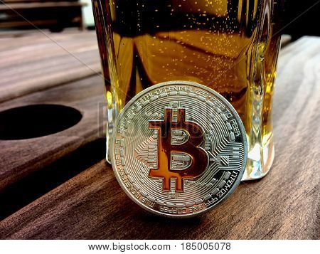 Bitcoin Coin And Beer