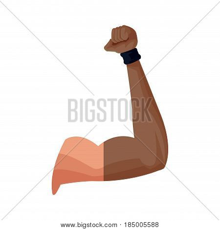 strong arm gym muscle design, vector illustration graphic