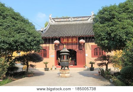 Ding Hui temple in Suzhou China. Ding Hui temple is one of the oldest temple in Suzhou.