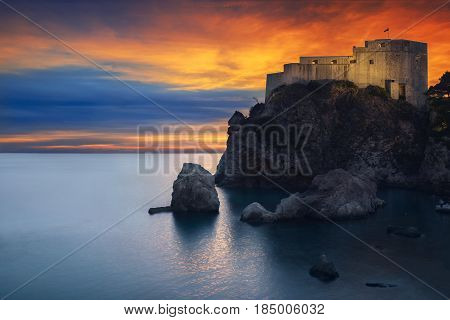 Fort St Lawrence and the Dubrovnik Sunset