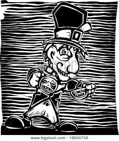 Mad Hatter from from Lewis Carroll's Alice in Wonderland. poster