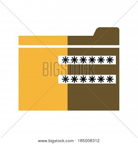 password security system file protection shadow vector illustration