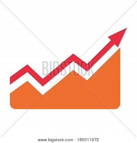 Arrow up increase icon vector illustration graphic design