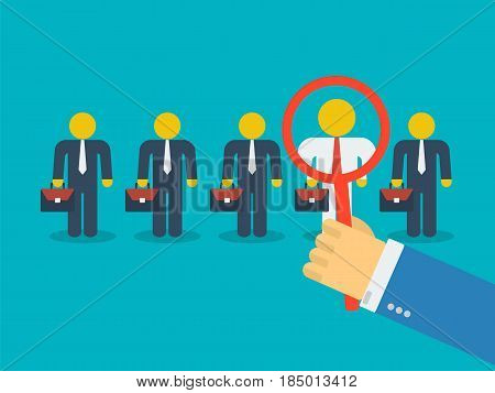 Employer of choice, candidate selection, employees group management business recruitment concept. Vector illustration.