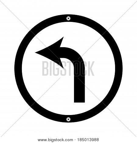 turn left arrow traffic signal icon vector illustration design