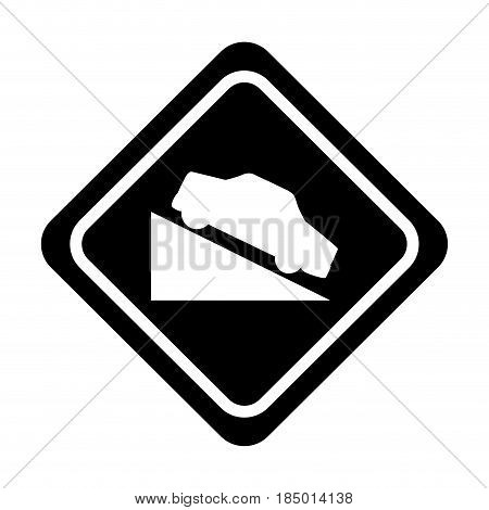Ascent on track traffic signal icon vector illustration design