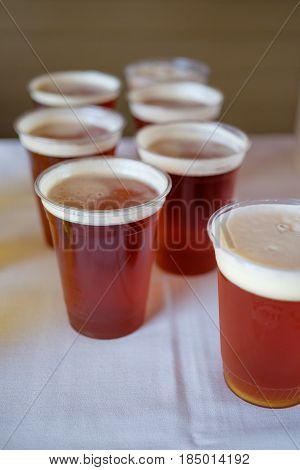 Wedding reception drinks ready to serve featuring this craft beer.