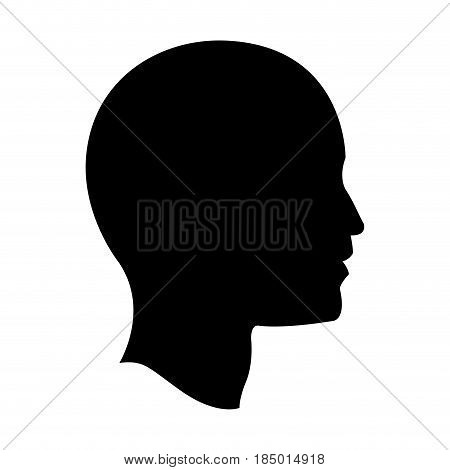 pictogram profile head human man vector illustration
