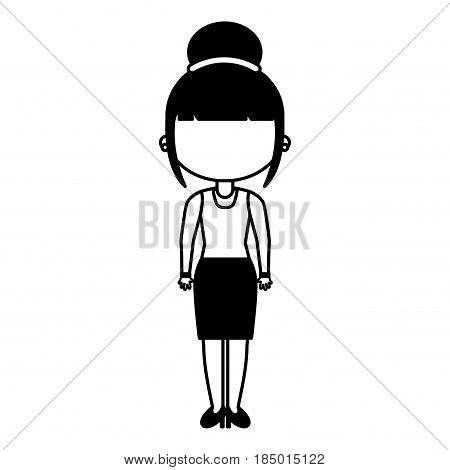 beautifull teacher avatar icon vector illustration design