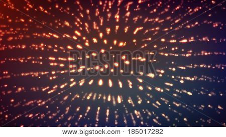 Dot Glowing Background. Techno Concept Abstract Space. Digital Wallpaper.