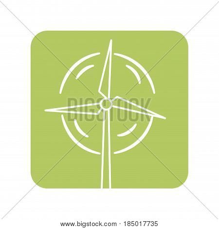 label nature and organic windpower ecology care, vector illustration
