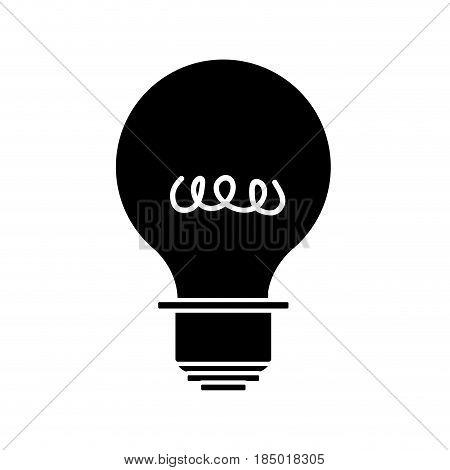 contour energy light bulb icon, vector illustration design