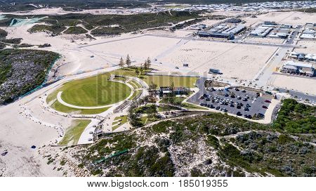 Aerial view of Shorehaven Waterfront Park, Western Australia