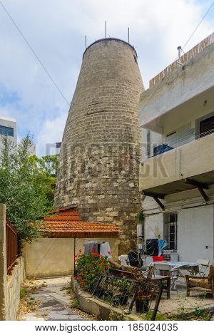 Old Windmill Building In Bat Galim Neighborhood, Haifa
