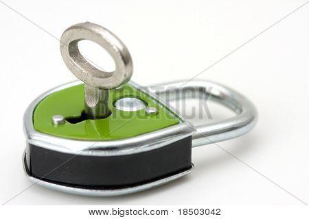 isolated padlock