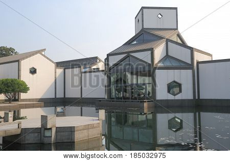 SUZHOU CHINA - NOVEMBER 3, 2016: Suzhou museum. Suzhou museum is a museum of ancient Chinese art, ancient Chinese paintings calligraphy and handmade crafts.