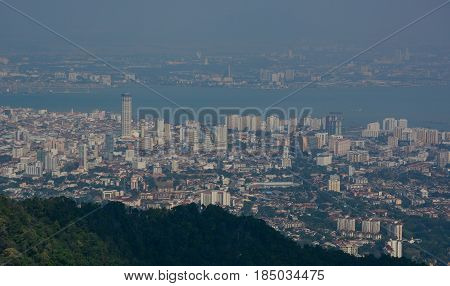 Cityscape Of George Town, Penang, Malaysia
