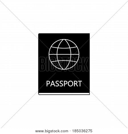 Passport solid icon, travel tourism, citizen and id, a filled pattern on a white background, eps 10.