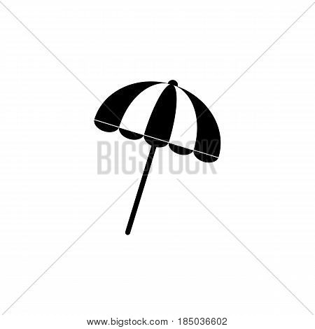 Sun umbrella solid icon, travel tourism, parasol, a filled pattern on a white background, eps 10.