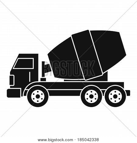 Truck concrete mixer icon in simple style isolated vector illustration