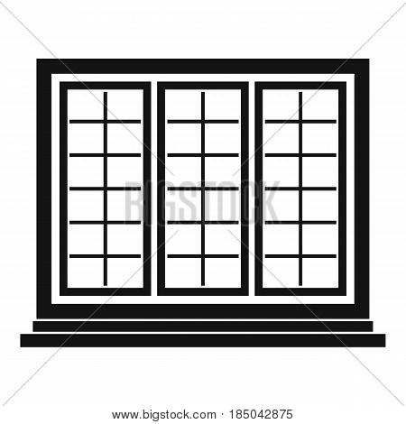 Wooden tricuspid window icon in simple style isolated vector illustration