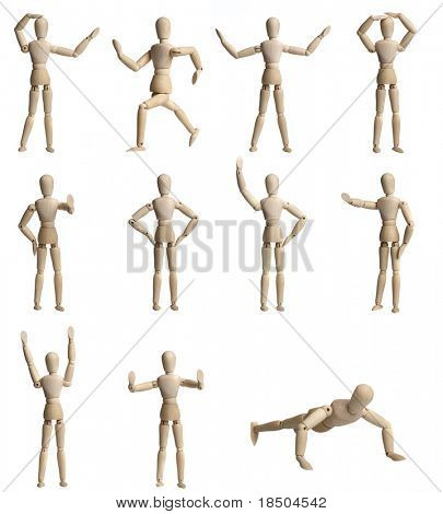 Collection of Wooden Mannequin
