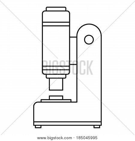 Blacksmith automatic hammer icon in outline style isolated vector illustration