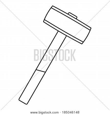 Sledgehammer icon in outline style isolated vector illustration