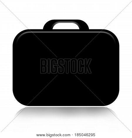 Black case illustration isolated on white background