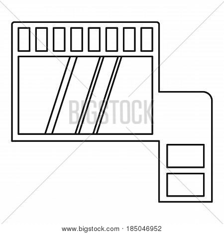 Memory card icon in outline style isolated vector illustration