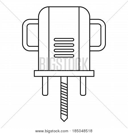 Boer drill icon in outline style isolated vector illustration