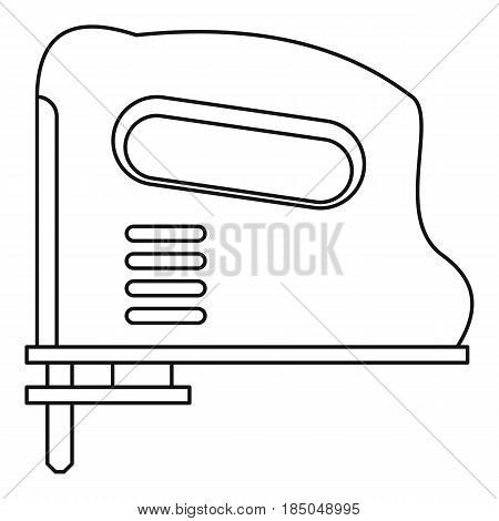 Pneumatic gun icon in outline style isolated vector illustration