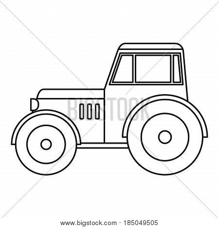 Tractor icon in outline style isolated vector illustration