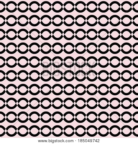 Vector seamless pattern, simple geometric texture, monochrome illustration with mesh, chains, lattice, tissue, wavy lines. Endless abstract background. Design element for prints, textile, digital, web