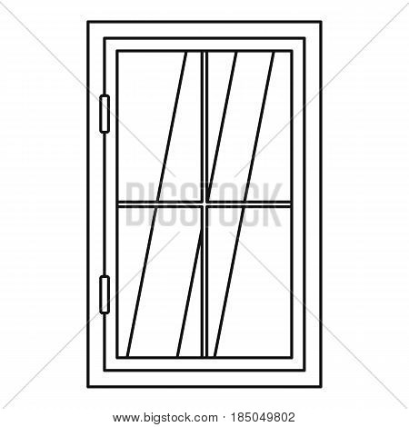Closed window icon in outline style isolated vector illustration