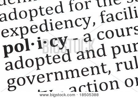 Definition of policy