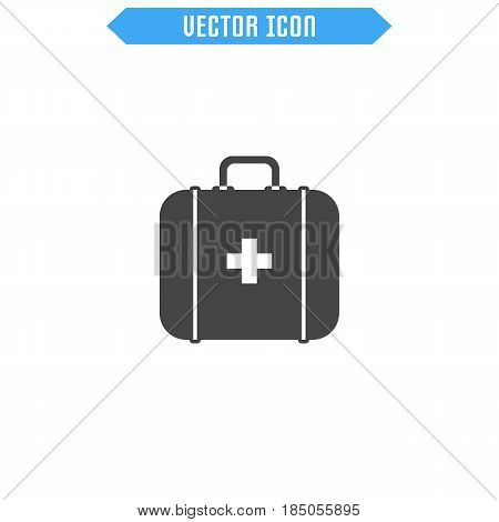 First Aid Kit Icon .medicine Chest Icon. Vector Sign Symbol.