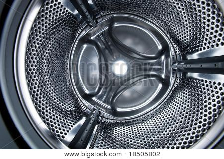 Inside view into a washing machine