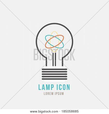 Light bulb icon design idea concept symbol. Vector illustration