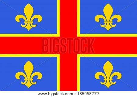 Flag of Clermont-Ferrand is the prefecture (capital) of the Puy-de-Dome department and commune of France.