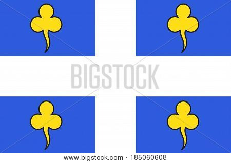 Flag of Ambert is a commune in the Puy-de-Dome department in Auvergne in central France. Vector illustration