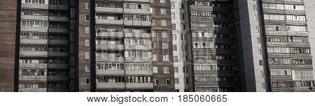 Apartment building, gray building, high-rise building, housing complex