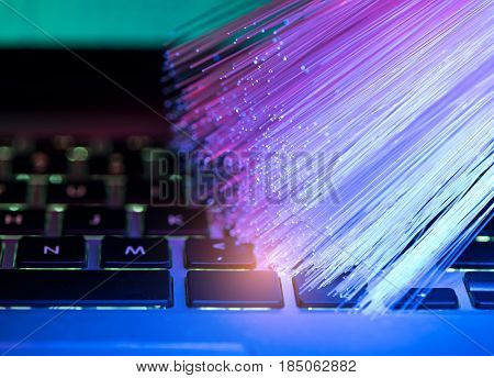 fiber optical background