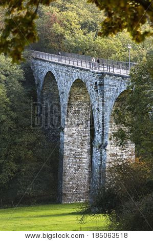 Vennbahn Viaduct In Aachen, Germany, Editorial