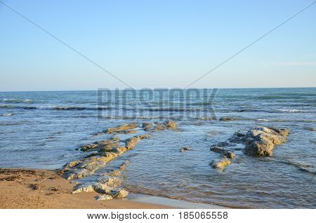 Beach at Scala dei Turchi near Agrigento, Sicily